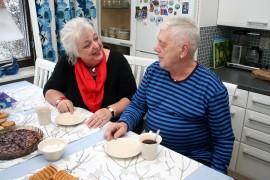 Heljä ja Hannu Vaitinniemi ovat olleet naimisissa pian 45 vuotta.