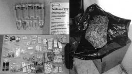 Poliisi löysi kotietsinnässä vakkasuomalaisen miehen kotoa huomattavan määrän huumeita ja dopingaineita.