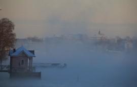 Aamuhetki Turun Ruissalosta satamaan päin katsottuna. Kuvan lähetti Paavo Salonen.
