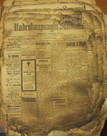 Uudenkaupungin Sanomien omissa arkistoissa oleva, vuoden 1917 vuosikerta on palanut pahoin.
