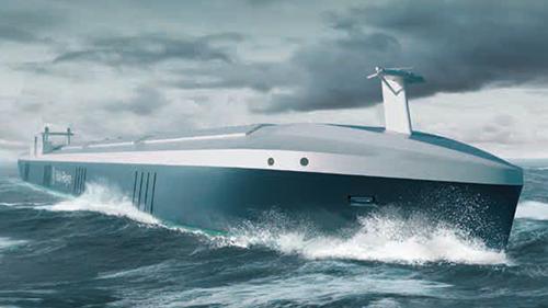 Rolls-Roycen kuva tulevaisuuden itseohjautuvasta laivasta.